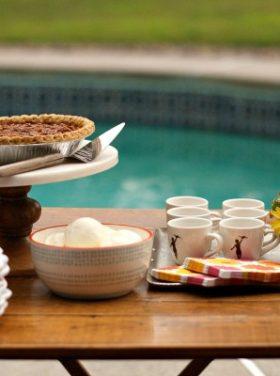 Collin Street Bakery Deep Dish Pecan Pie with Homemade No-Churn Vanilla Ice Cream