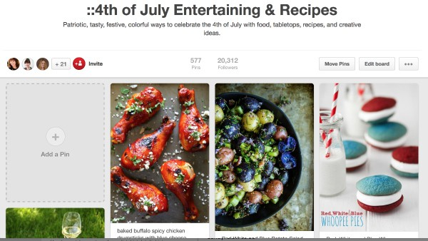 RE Fourth of July Pinterest Board