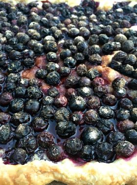 Fresh Berry Tart with Rosemary | ReluctantEntertainer.com