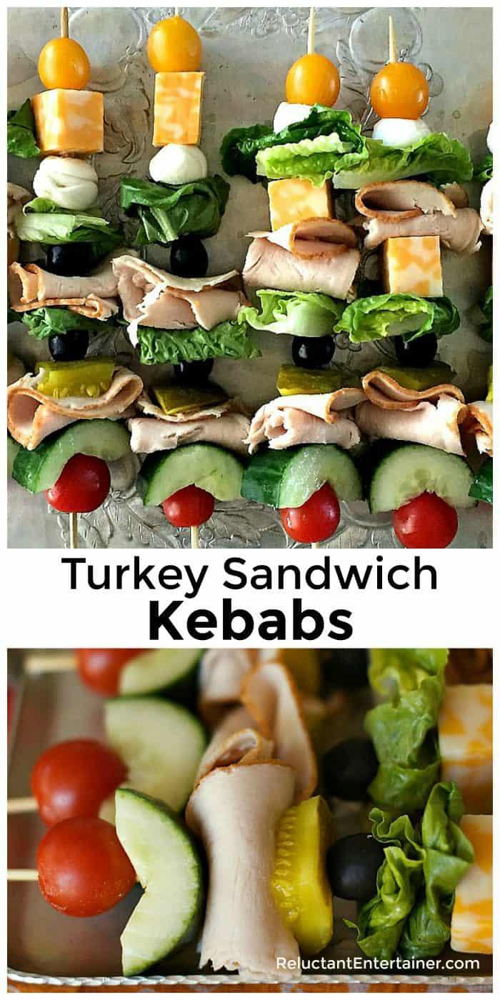Turkey Sandwich Kebabs Recipe