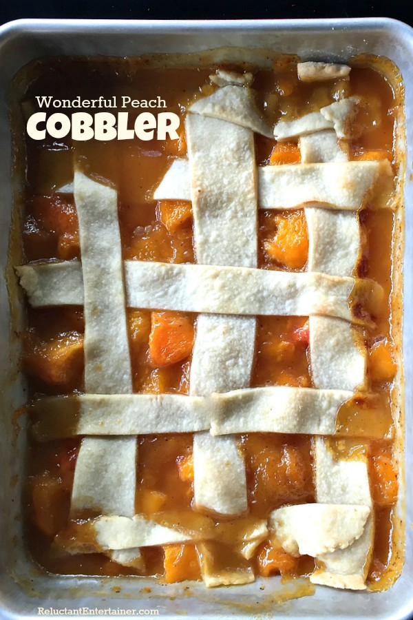 Wonderful Peach Cobbler | ReluctantEntertainer.com
