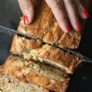 Sour Cream Banana Bread | ReluctantEntertainer.com