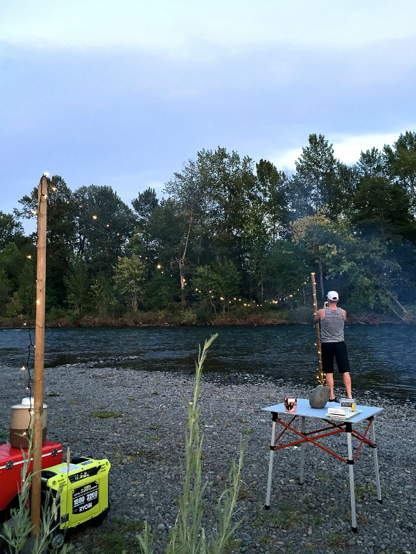 River Dinner Party with Ryobi Outdoors | ReluctantEntertainer.com
