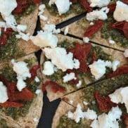 Tomato Feta Pesto Tortilla Bites