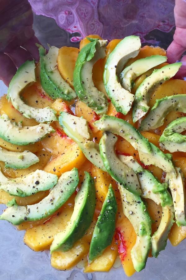 Peach Avocado Salad | ReluctantEntertainer.com