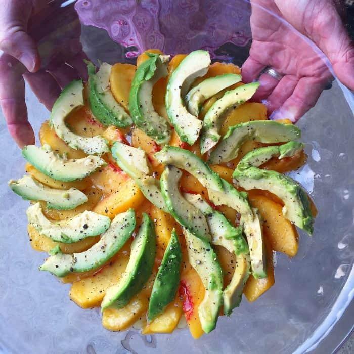 So good - Summer Fresh Peach Avocado Salad