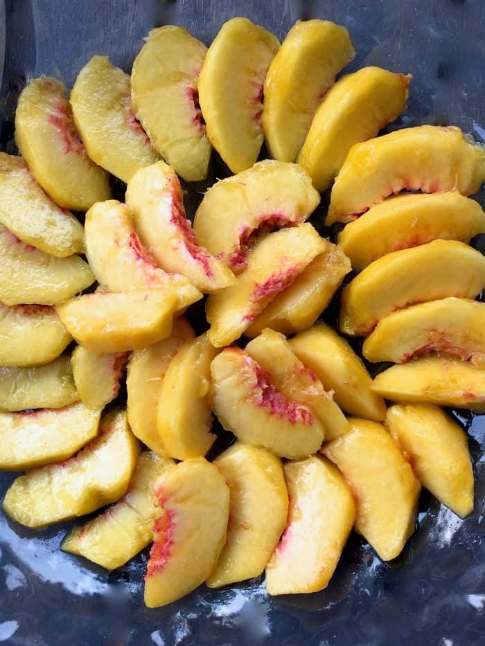 Easy Fresh Peach Avocado Salad