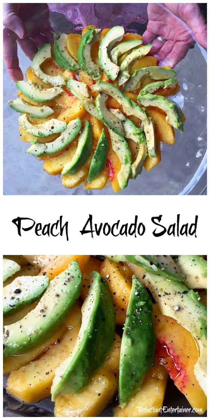 Peach Avocado Salad Recipe
