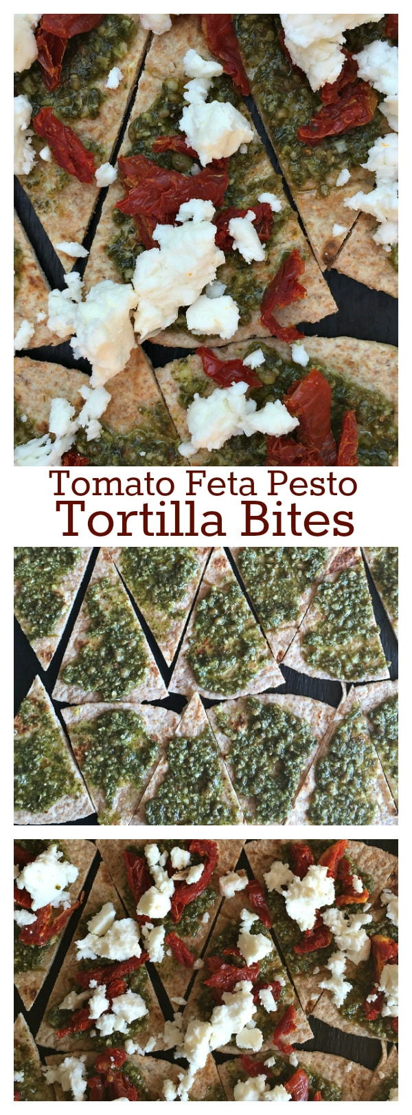 Tomato Feta Pesto Tortilla Bites - easy appetizer recipe