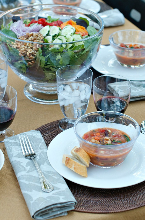 fall dinner party minestrone soup recipe