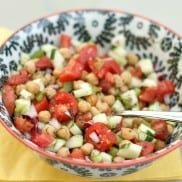 Cucumber and Chickpea Salad with Citrus | ReluctantEntertainer.com