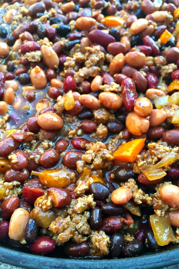 Crock Pot Beans with Ground Turkey | ReluctantEntertainer.com