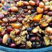 Crock Pot Beans with Ground Turkey