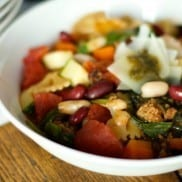 Slow Cooker Red, White, and Bean Minestrone Soup   ReluctantEntertainer.com