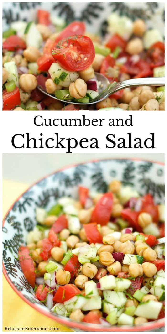 Cucumber and Chickpea Salad Recipe