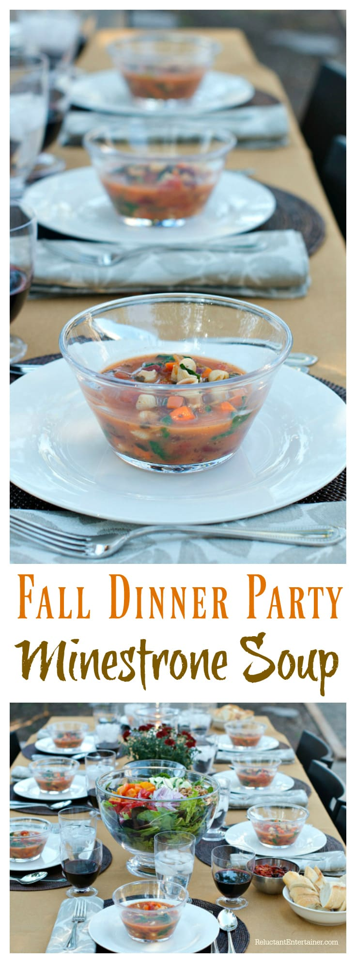 dinner party recipes fall dinner minestrone soup recipe 12414