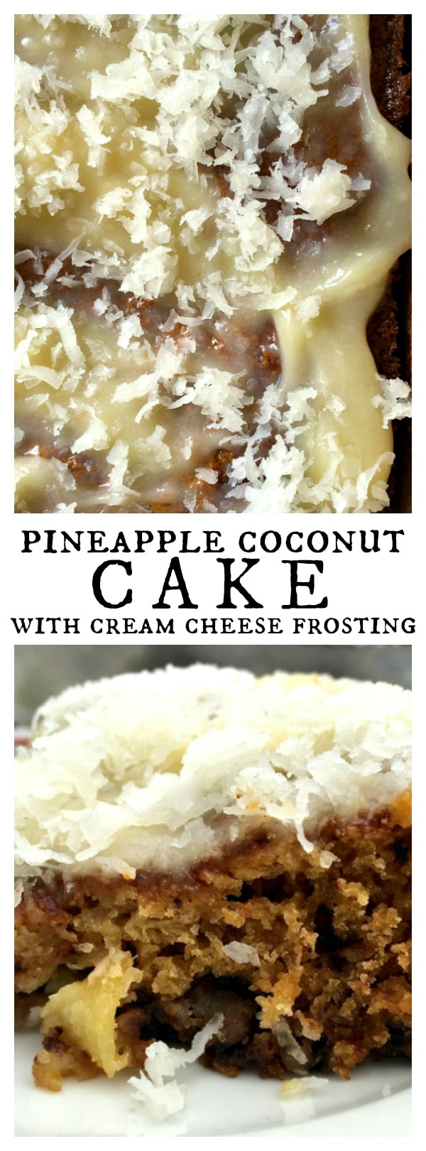 Pineapple Coconut Cake with Cream Cheese Frosting