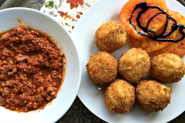 how to cook woolworths arancini balls