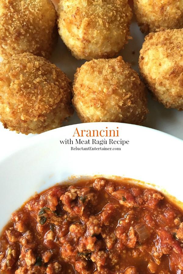 Arancini with Meat Ragù Recipe   ReluctantEntertainer.com