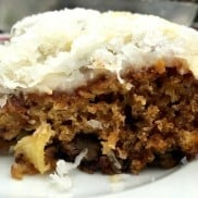 Pineapple Coconut Cake with Cream Cheese Frosting | ReluctantEntertainer.com