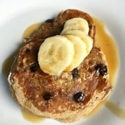 Banana Chocolate Chip Pancake Recipe | ReluctantEntertainer.com