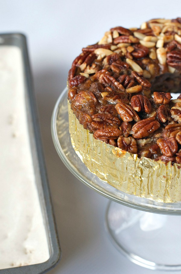 Easy Maple Ice Cream and Collin Street Bakery Apple Cinnamon Pecan Cake at Reluctant Entertainer