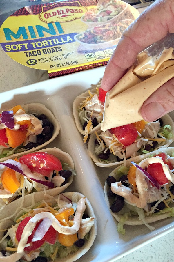 Mini Chicken Taco Boats and Jalapeño Greek Yogurt Dip |ReluctantEntertainer.com #TacoBoatSweepstakes #TacoBoats #ad