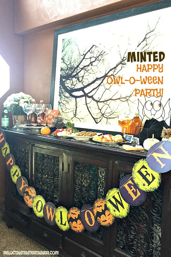 "Minted ""Happy Owl-o-Ween"" Party and No-Bake Peanut Butter Coconut Bites 