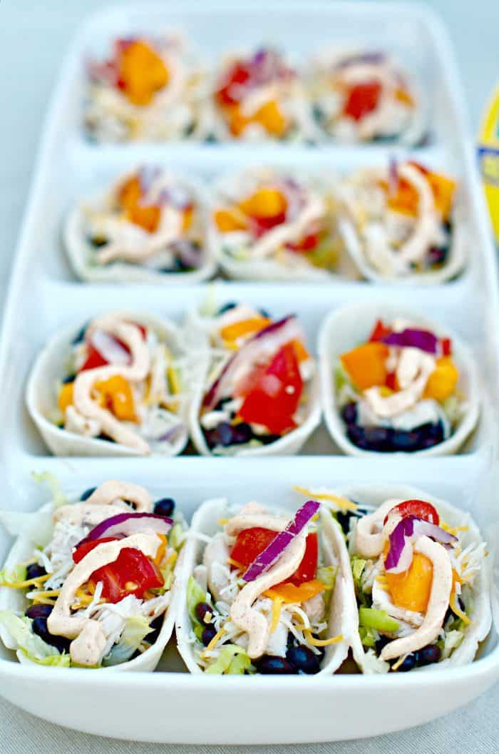 Best Mini Chicken Taco Boats and Jalapeño Greek Yogurt Dip