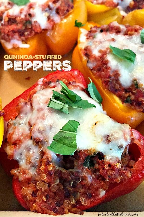 Quinoa-Stuffed Peppers | ReluctantEntertainer.com