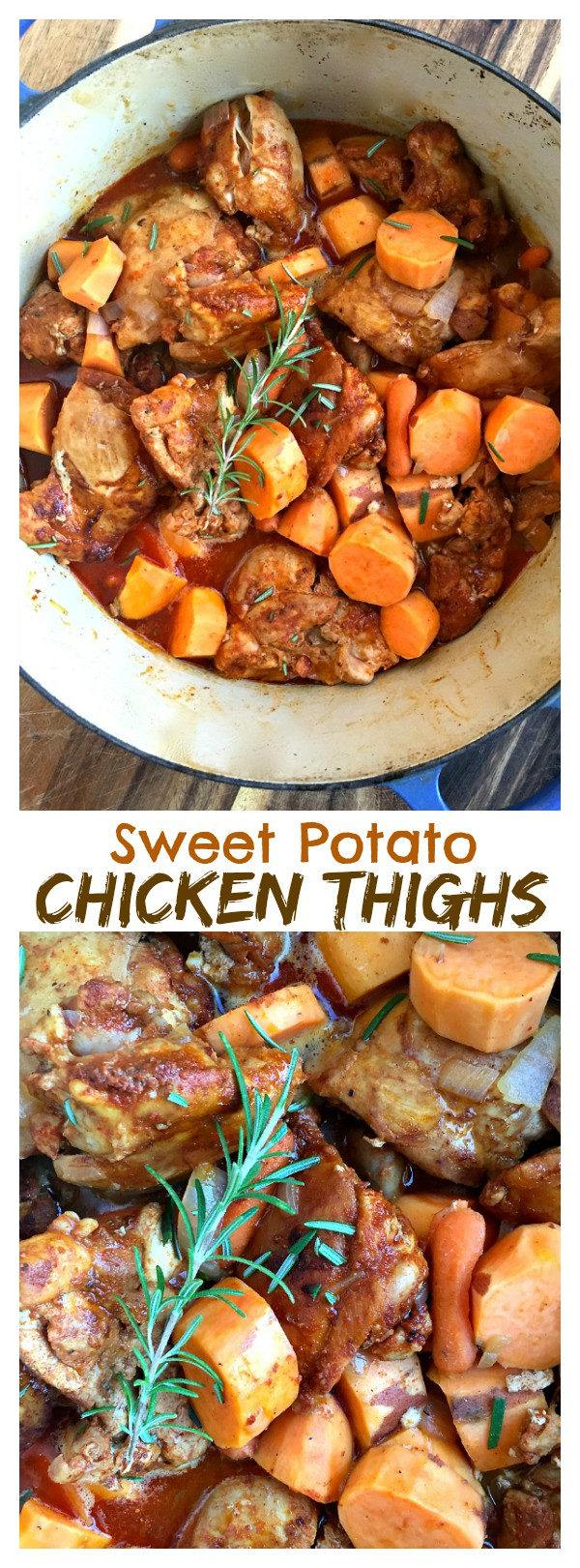 Healthy, easy dinner: Paprika Sweet Potato Chicken Thighs