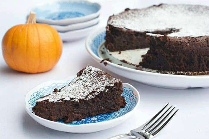 Pumpkin Flourless Chocolate Cake