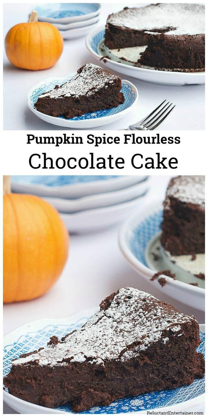 Pumpkin Spice Flourless Chocolate Cake Recipe