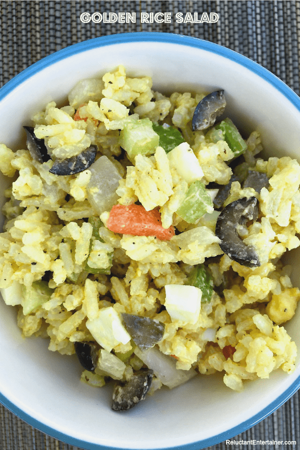 Golden Rice Salad | ReluctantEntertainer.com