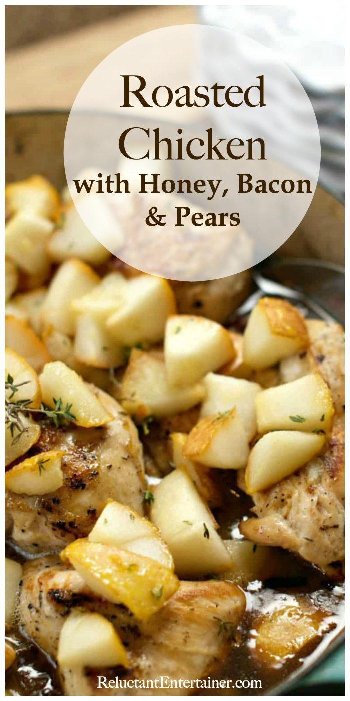Roasted Chicken with Honey Bacon Pears Recipe