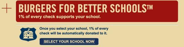 Red Robin's Burgers for Better Schools Program