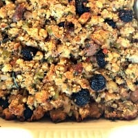 Gluten-Free Apple Sausage Bacon Stuffing for the Holidays