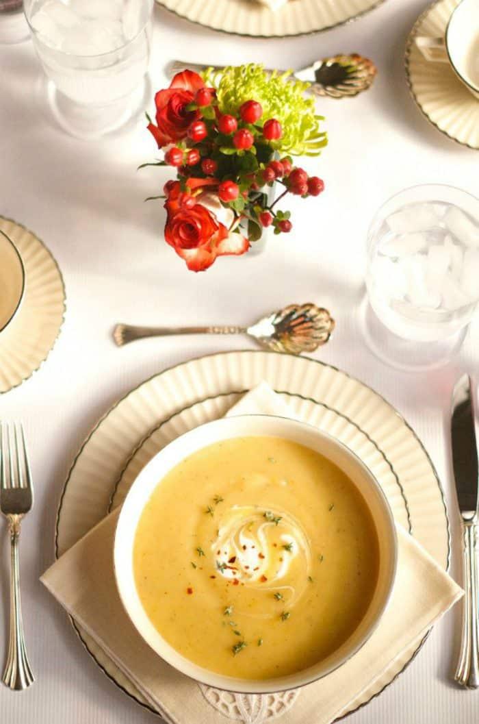 Easy Pear Potato Soup Recipe