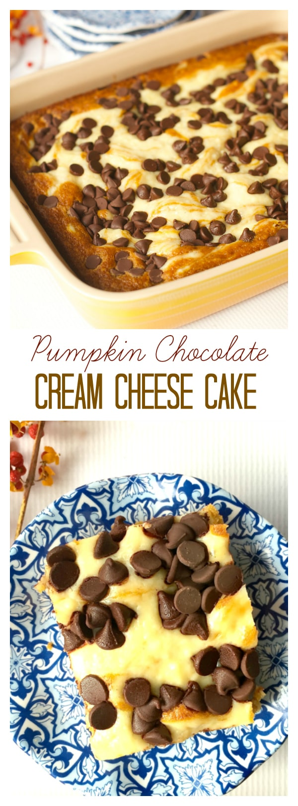 Pumpkin Chocolate Cream Cheese Cake