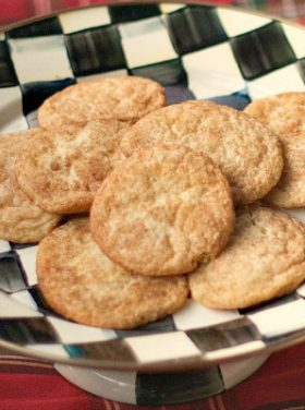 Snickerdoodle Cookies, make-ahead recipe, easy to bake right before guests arrive!