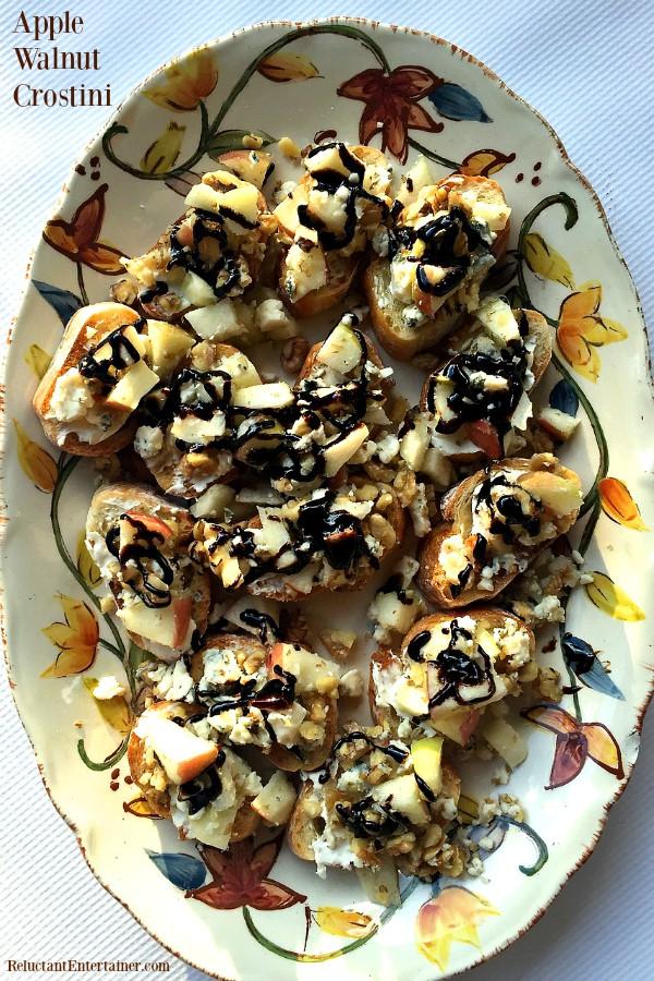Apple Walnut Crostini