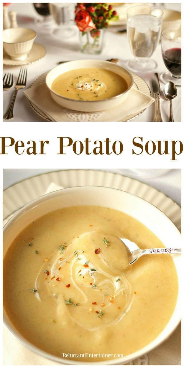 Easy Pear Potato Soup