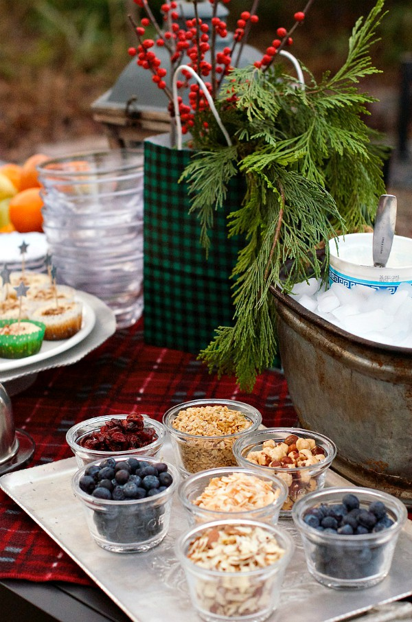 Christmas Brunch Yogurt Bar