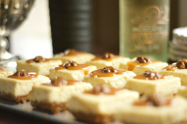Mini Cheesecakes with Salted Caramel Topping