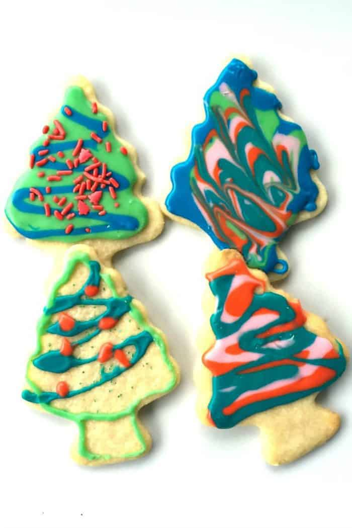 Christmas Frosted Sugar Cookies - trees