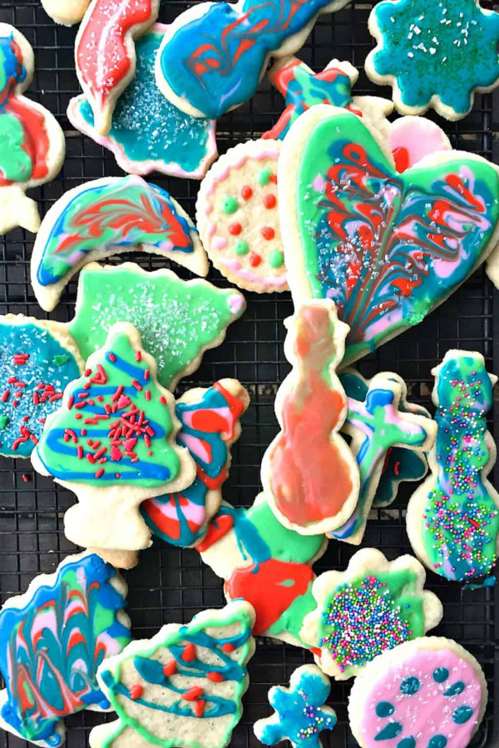 Christmas Frosted Sugar Cookies - Reluctant Entertainer