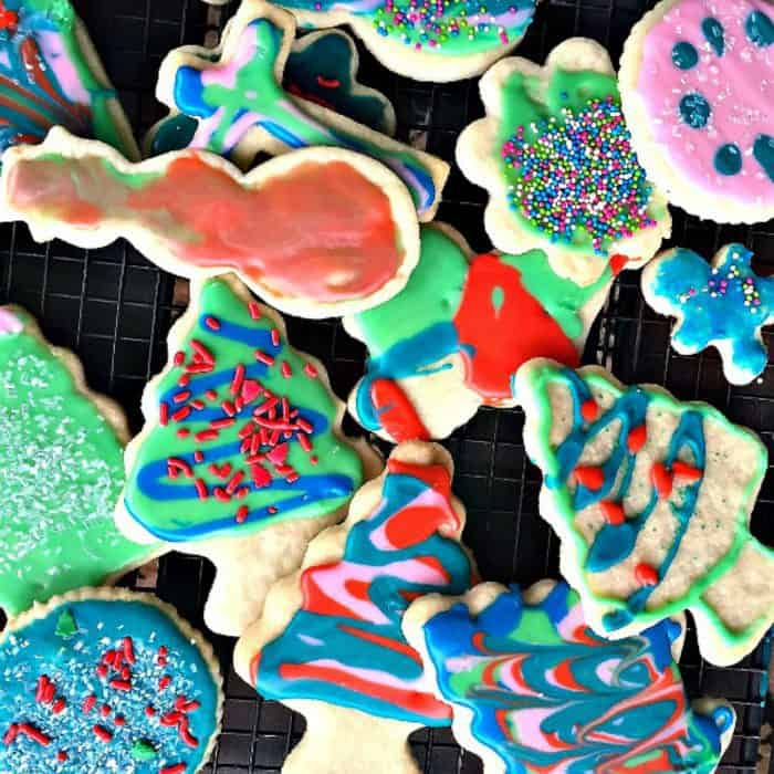 Christmas Frosted Sugar Cookies - variety