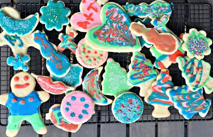 HOMEMADE Christmas Frosted Sugar Cookies