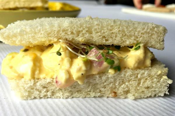 Downton Abbey Egg Salad Tea Sandwiches