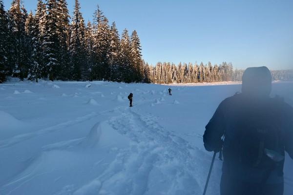 Snowshoeing at Fish Lake